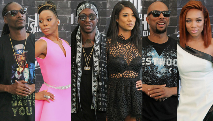 migos, snoop dogg, 2 chainz, erica ash, mila j, common, lil mama, whycauseican, bet, bet hip hop awards, bet hip hop awards red carpet, bet 2014 hip hop awards, 2014 hip hop awards red carpet