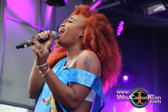 SZA at SXSW 2015, SZA's red hair, SZA concerts,