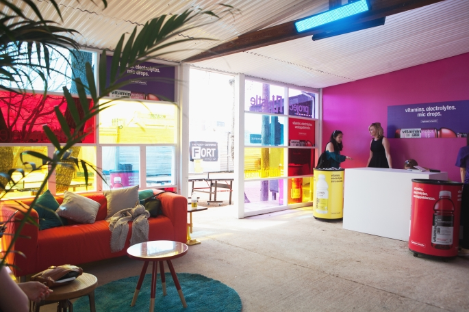 vitaminwater Project Hustle activation at The FADER FORT at SXSW by Mary Kang 7
