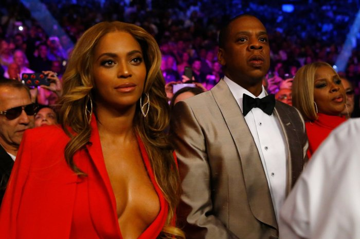 beyonce and Jay Z at Mayweather and Pacquiao fight