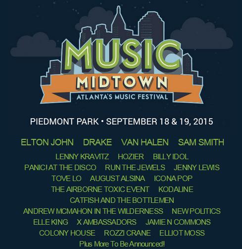 2015 Music Midtown Music Festival line up