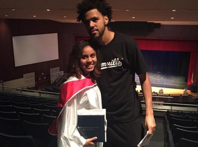 J Cole keeps promise and attends fans graduation