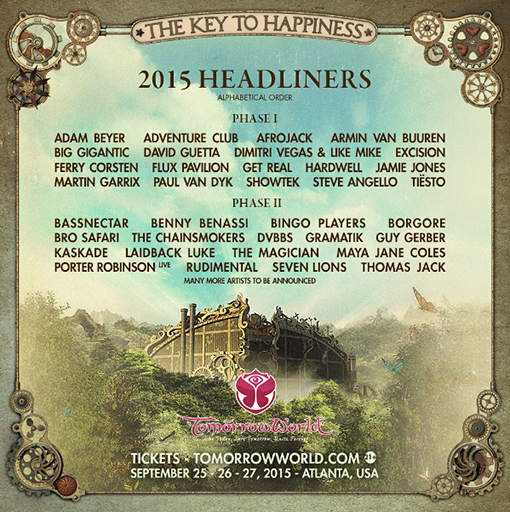 tomorrowWorld 2015 full LineUp