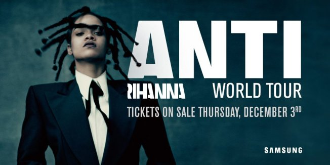 Rihanna ANTI world tour dates