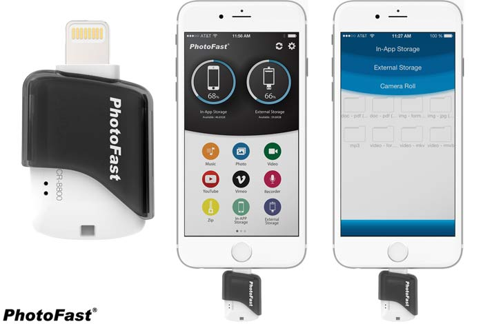 photofast ios micro sd card reader for apple iphones